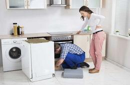 Подключение посудомоечной машины к коммуникациям Железнодорожный