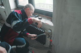 Монтаж дизайнерских батарей отопления Железнодорожный